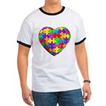 Jelly Puzzle Heart Ringer T