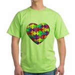 Jelly Puzzle Heart Green T-Shirt