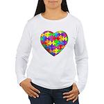 Jelly Puzzle Heart Women's Long Sleeve T-Shirt
