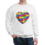 Jelly Puzzle Heart Sweatshirt