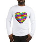 Jelly Puzzle Heart Long Sleeve T-Shirt