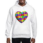 Jelly Puzzle Heart Hooded Sweatshirt