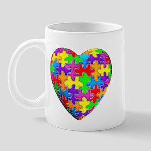 Jelly Puzzle Heart Mug