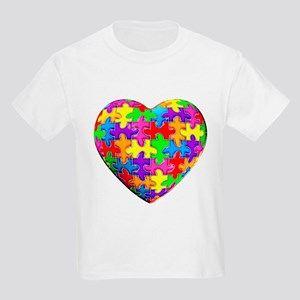 Jelly Puzzle Heart Kids Light T-Shirt
