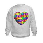 Jelly Puzzle Heart Kids Sweatshirt