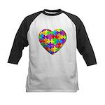 Jelly Puzzle Heart Kids Baseball Jersey