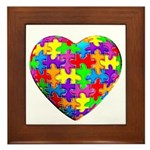 Jelly Puzzle Heart Framed Tile