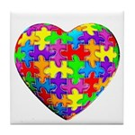 Jelly Puzzle Heart Tile Coaster