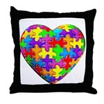 Jelly Puzzle Heart Throw Pillow