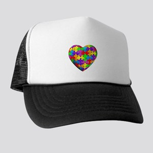 Jelly Puzzle Heart Trucker Hat