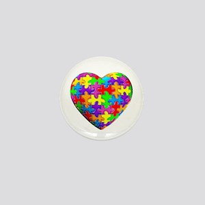 Jelly Puzzle Heart Mini Button