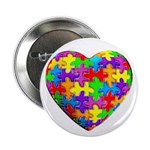 """Jelly Puzzle Heart 2.25"""" Button (100 pack)"""