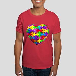 Jelly Puzzle Heart Dark T-Shirt