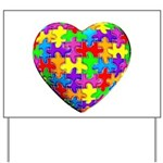 Jelly Puzzle Heart Yard Sign