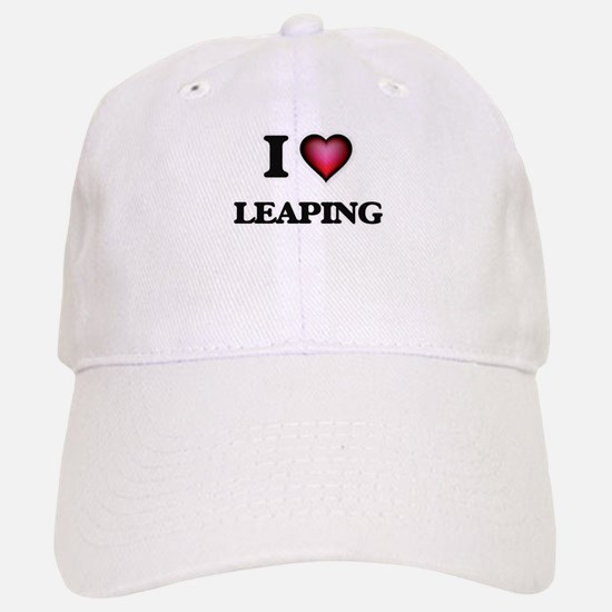 I Love Leaping Baseball Baseball Cap