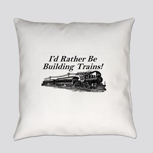 Rather be Building Trains! Everyday Pillow