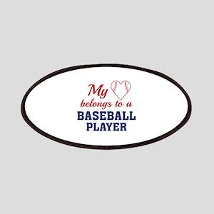 Heart Belongs Baseball Patches