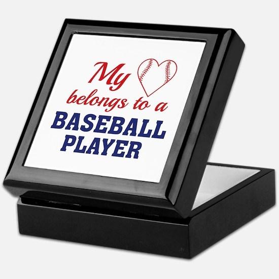Heart Belongs Baseball Keepsake Box