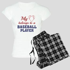 Heart Belongs Baseball Women's Light Pajamas