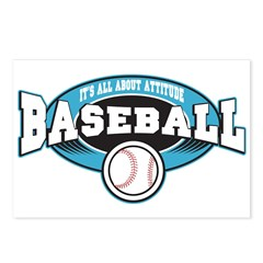 All About Attitude Baseball Postcards (Package of