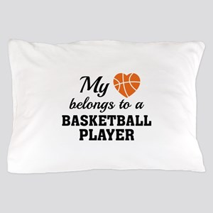 Heart Belongs Basketball Pillow Case