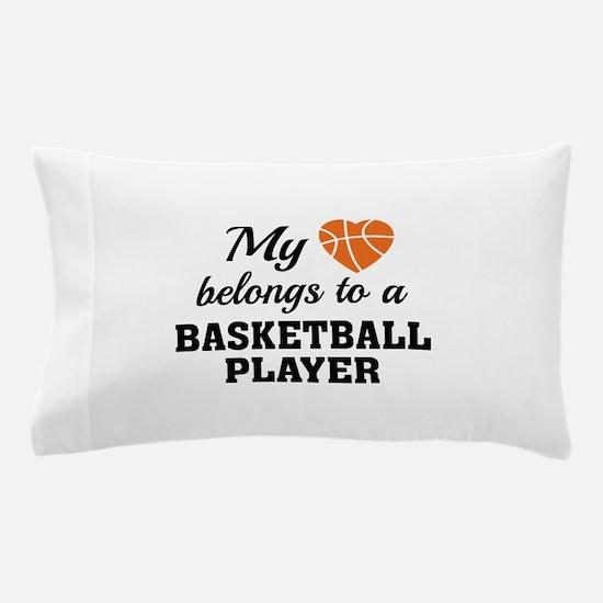 Heart Belongs Basketball Pillow Case