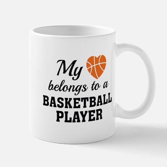 Heart Belongs Basketball Mug