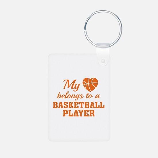 Heart Belongs Basketball Keychains