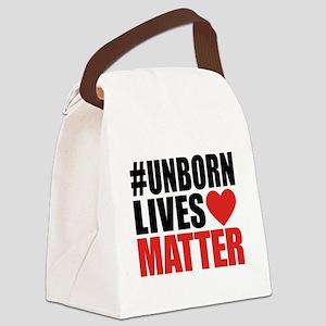 Unborn Lives Matter Canvas Lunch Bag