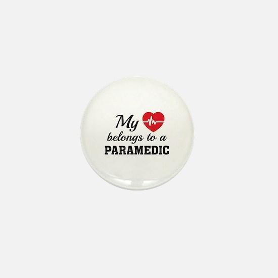 Heart Belongs Paramedic Mini Button