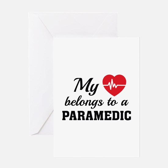 Heart Belongs Paramedic Greeting Card