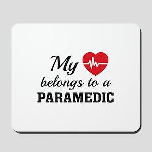 Heart Belongs Paramedic Mousepad