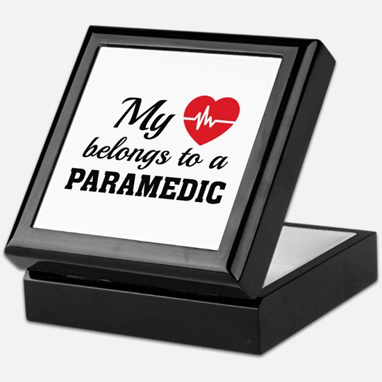 Heart Belongs Paramedic Keepsake Box