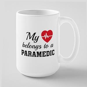 Heart Belongs Paramedic Large Mug