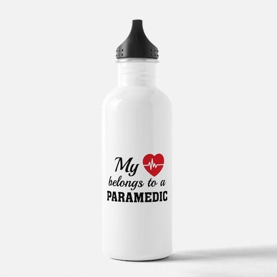 Heart Belongs Paramedic Water Bottle