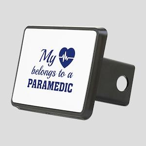 Heart Belongs Paramedic Rectangular Hitch Cover