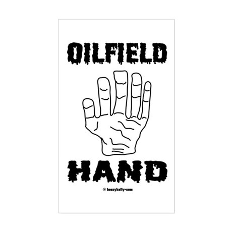 Oilfield Hand Rectangle Sticker
