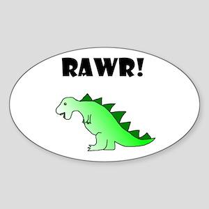 RAWR! Oval Sticker