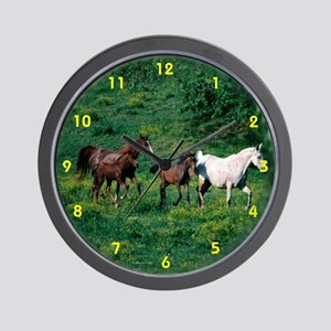 Horses running Wall Clock