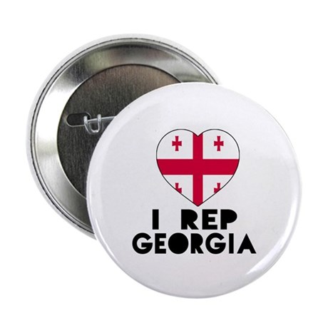 """I Rep Georgia Country 2.25"""" Button (10 pack)"""