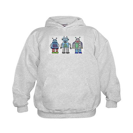 Robot Family Kids Hoodie