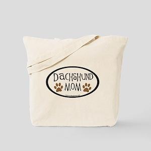 Dachshund Mom Oval Tote Bag