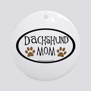 Dachshund Mom Oval Ornament (Round)