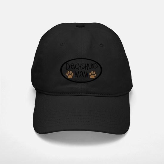 Dachshund Mom Oval Baseball Hat