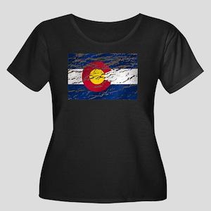 Colorado Vintage Flag Plus Size T-Shirt
