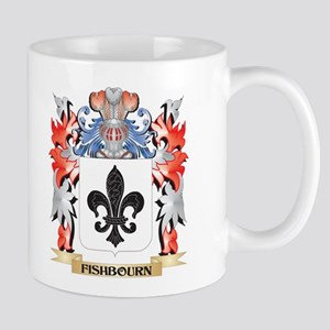 Fishbourn Coat of Arms - Family Crest Mugs