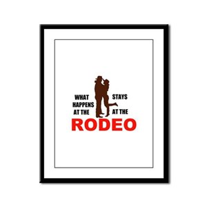 RODEO Framed Panel Print
