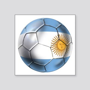 "Argentina Football Square Sticker 3"" X 3&quot"