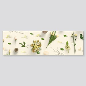 Scattered Flowers Yellow Sticker (Bumper)