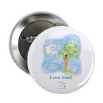 """I Love Trees 2.25"""" Button (10 pack)"""